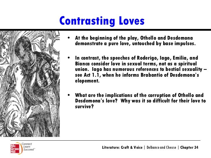 "comparing and contrast emilia and desdemona s ""compare and contrast two poems that deal with the issue of love"" this essay will compare and contrast 'porphyria's desdemona, and emilia comparing."
