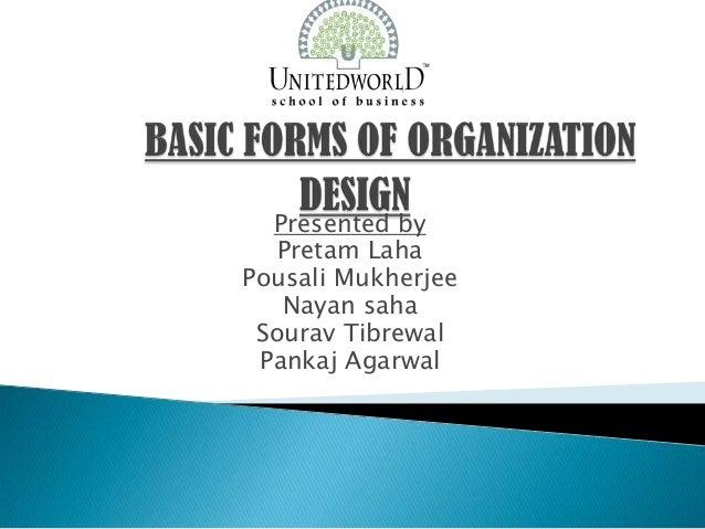 Presentation on Basic forms of  Organizations Design