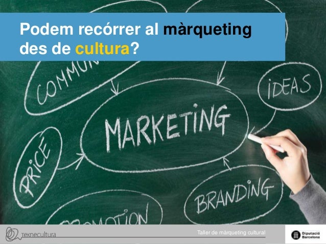 Podem recórrer al màrqueting des de cultura?  Taller de màrqueting de màrqueting Taller cultural  cultural