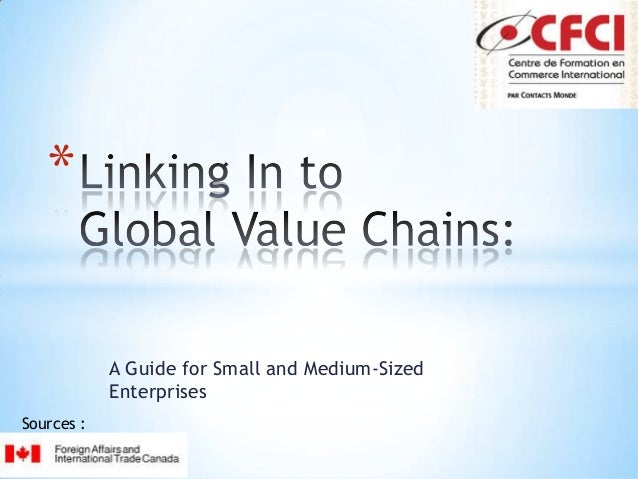 Linking In to Global Value Chains