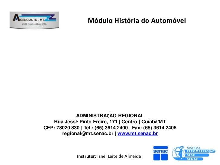 Ppt 5 modulo história do automóvel senac
