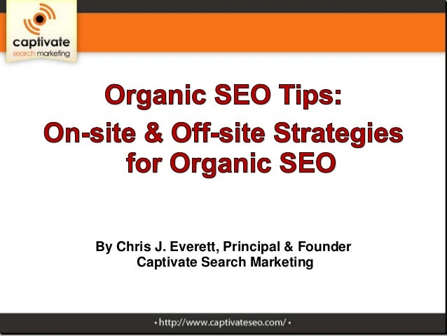 Tips for on-site and offsite organic SEO