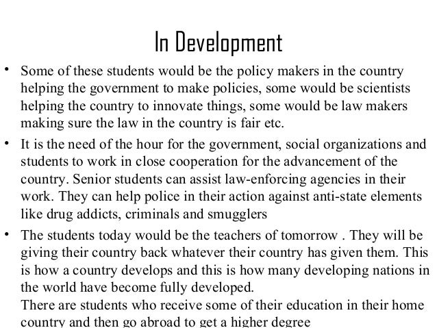 role of a student in nation building essay