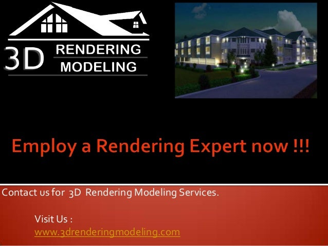 Contact Tesla for effective 3D Modeling and Rendering Services
