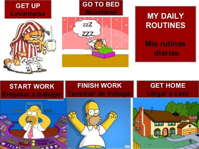 Acciones cotidianas inglés