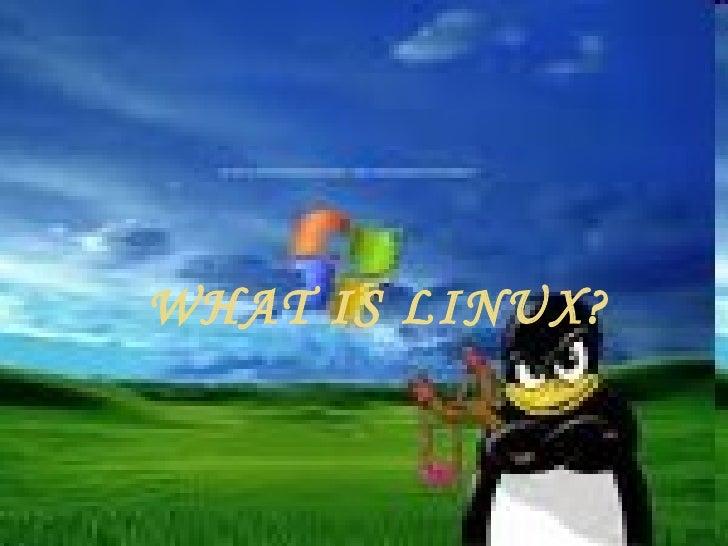 <ul><li>WHAT IS LINUX? </li></ul>