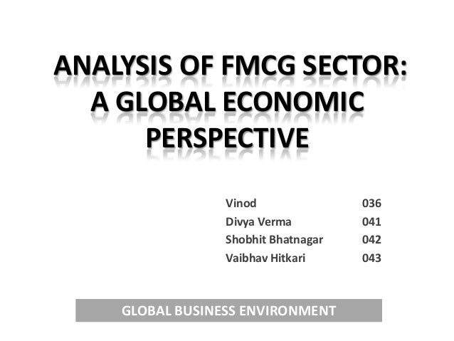 Ppt analysis of fmcg sector 28 4 13
