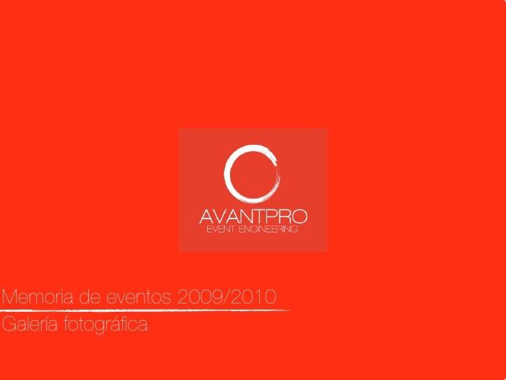 AvantPro: Event Engineering
