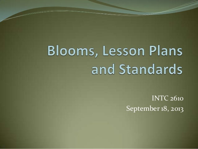 INTC 2610 September 18, 2013
