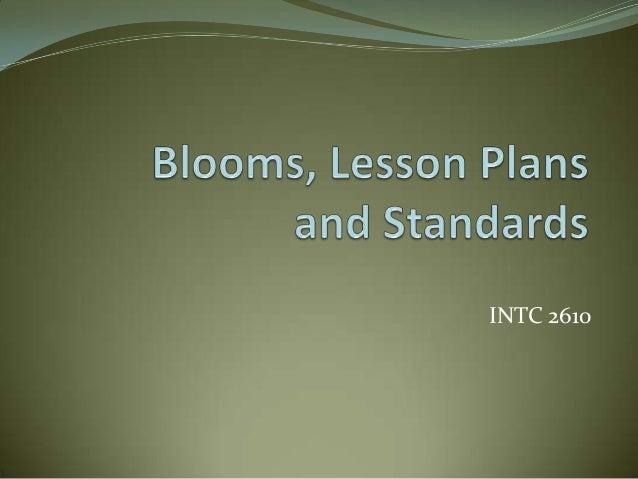 Ppt blooms lesson_plans