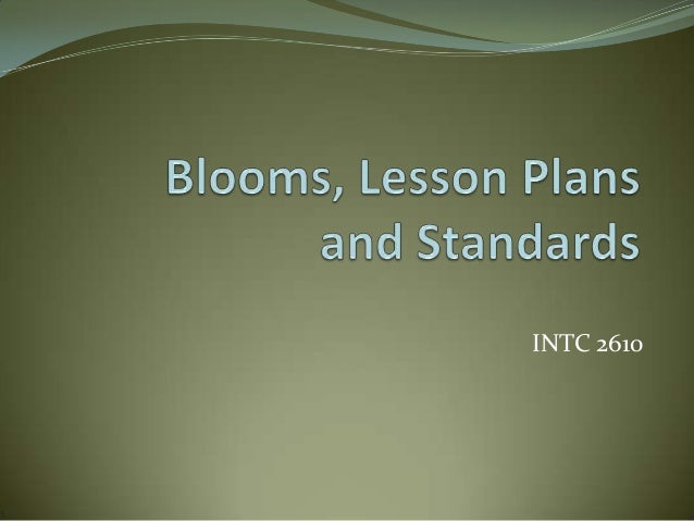 Ppt blooms lesson_plans