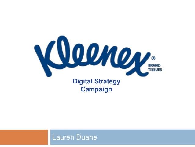 NMDL Kleenex Digital Strategy