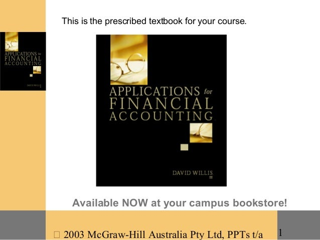 This is the prescribed textbook for your course.    Available NOW at your campus bookstore! 2003 McGraw-Hill Australia Pt...