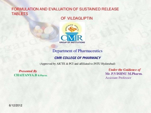 Ppt of  Vildagliptin SR tablets