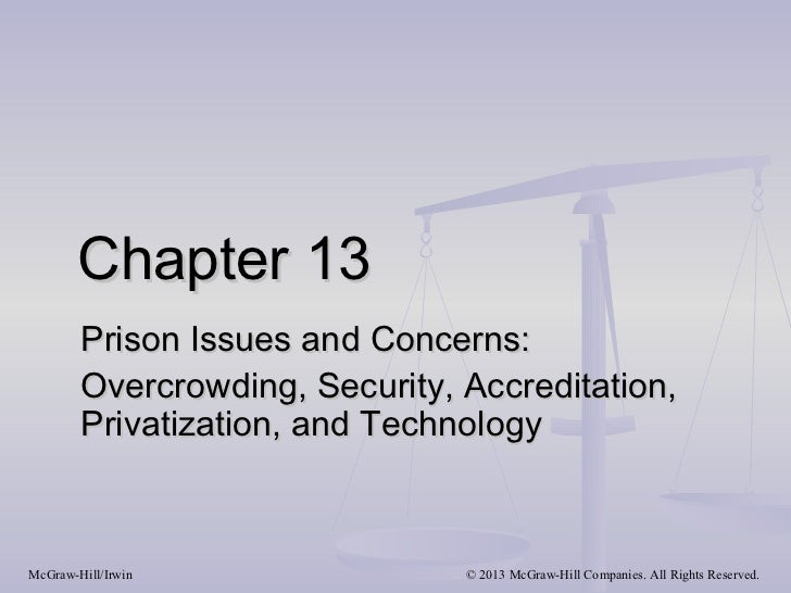 Chapter 13        Prison Issues and Concerns:        Overcrowding, Security, Accreditation,        Privatization, and Tech...