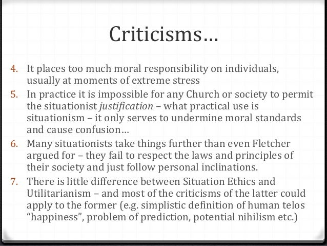 outline situation ethics or utilitarianism A summary of chapter 2: what utilitarianism is (part 2) in john stuart mill's utilitarianism learn exactly what happened in this chapter, scene, or section of.