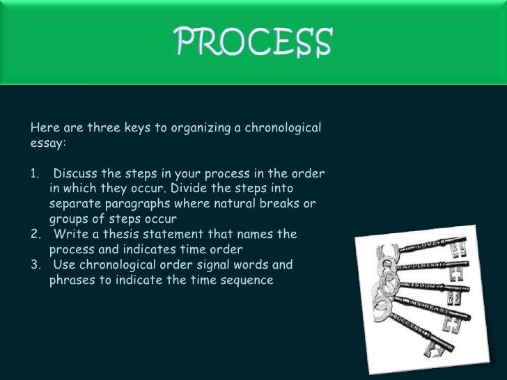 Chronological Order Essay Writing