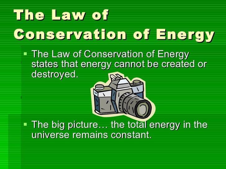 Essay on conservation of energy