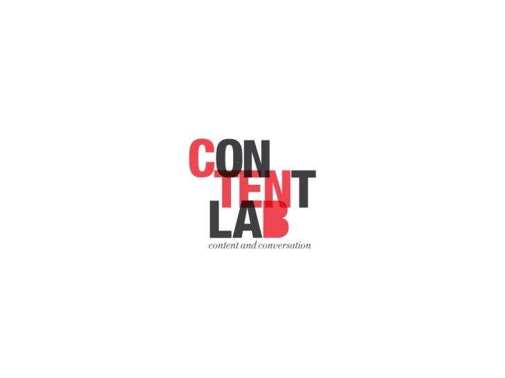 Content Lab is a brand new content marke2ng company telling digital stories across all media ...