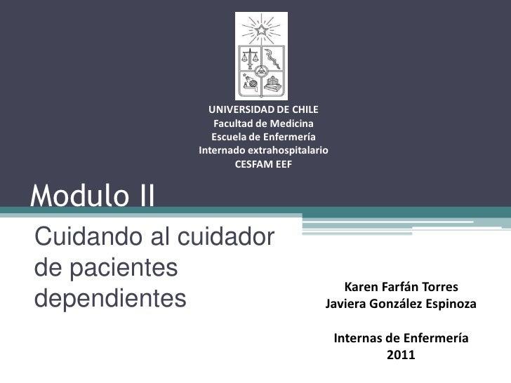 UNIVERSIDAD DE CHILE                Facultad de Medicina                Escuela de Enfermería             Internado extrah...