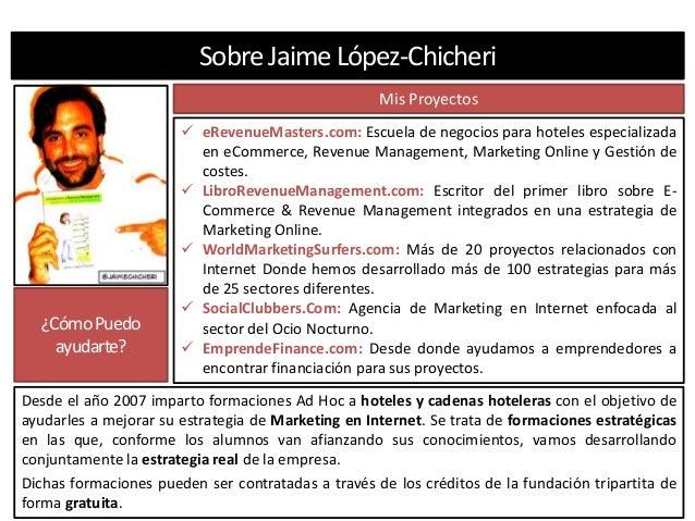 Presentación de los proyectos y menciones en prensa de Jaime López-Chicheri