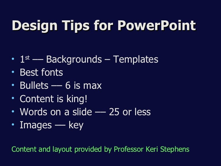 Presentation Design Tips Design Tips For Powerpoint