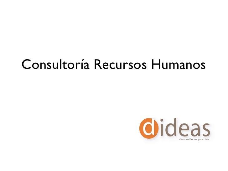 Consultoría Recursos Humanos