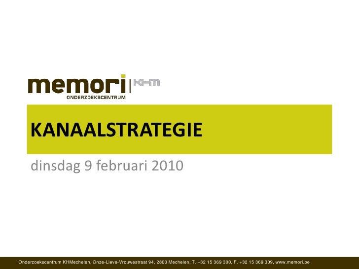 Atelier dienstverlening - Kanaalstrategie door Memori