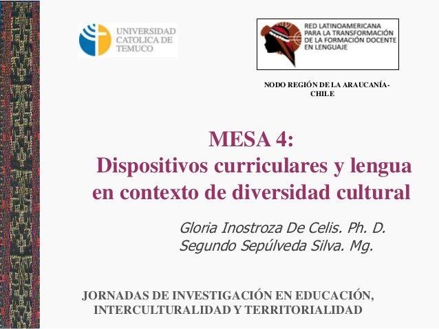 Dispositivo curriculares y lengua en contexro de diversidad intercultural