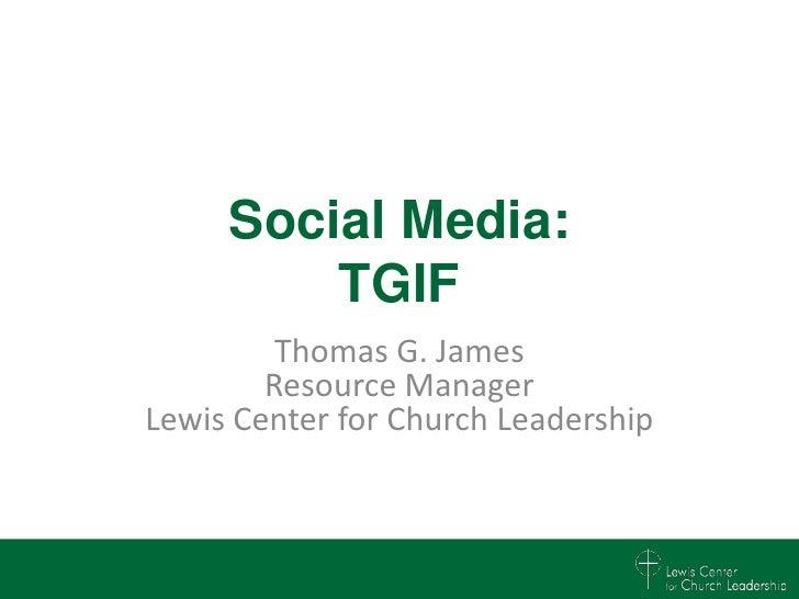 Social Media use in the Church
