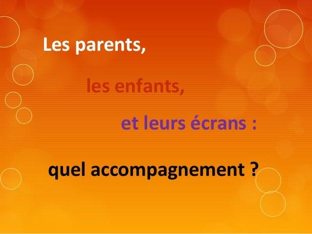 Parents-enfants-écrans : Présentation de Sylvie Brisson