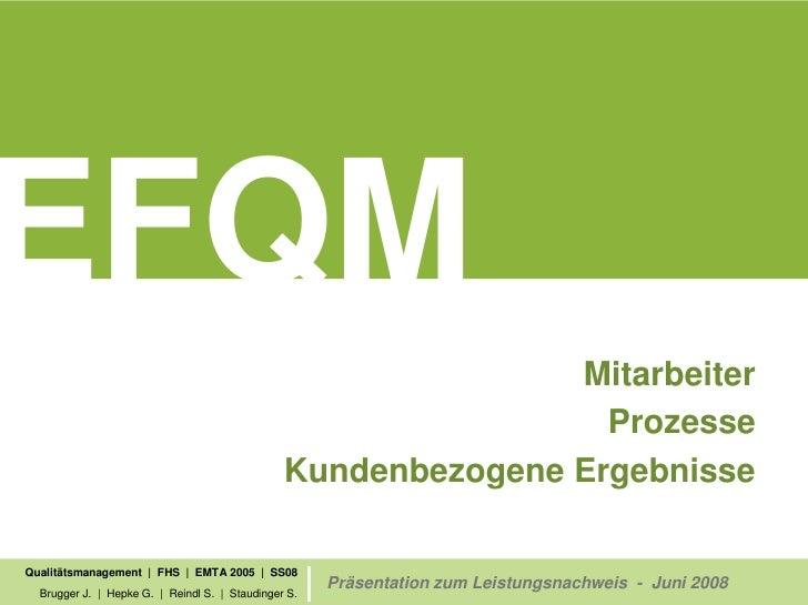 efqm - qualitätsmanagement