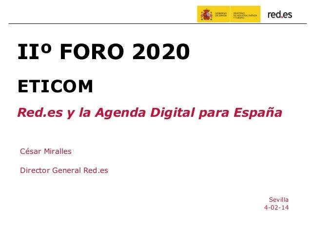 Foro 2020 ETICOM: Presentaciones