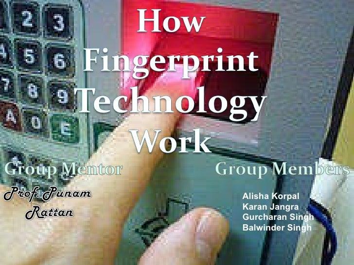 How fingerprint technology work
