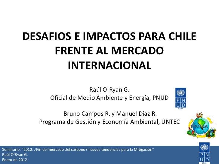 Desafíos e impactos para Chile frente al mercado internacional, Raúl O'Ryan, PNUD