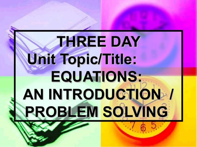 Ppt for lesson on equations tws