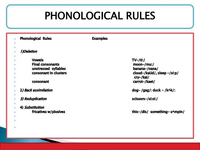 phonological rules Phonological rule 6 voiceless stops are preceded by glottal stop after a vowel and at the end of a word also applies to word-final voiceless affricates.