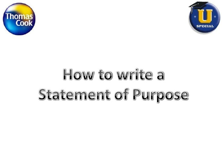 How to write a<br />Statement of Purpose<br />