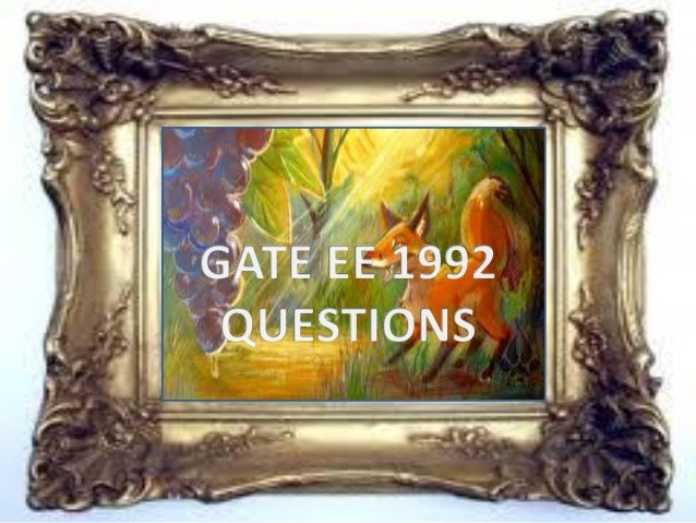 Pptgateeee1992questions