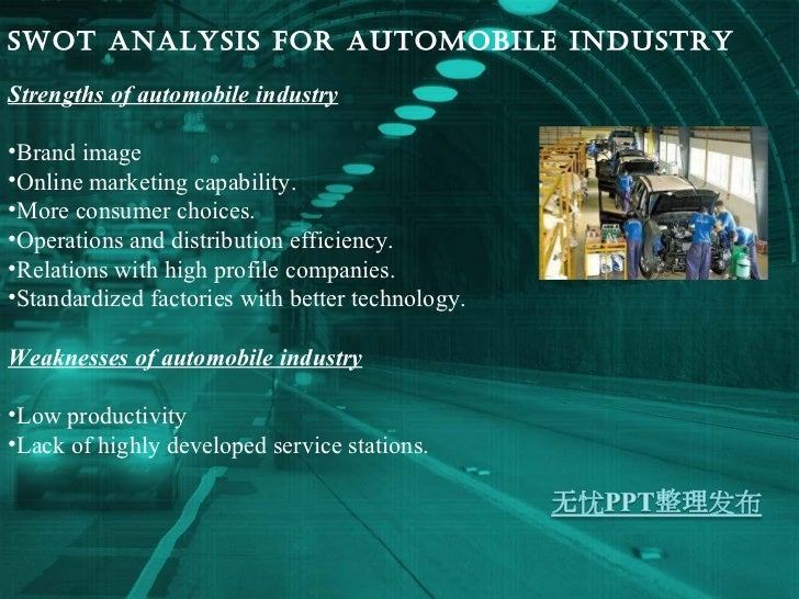 analysis on automobile industry essay Analysis of automobile advertisements in american magazines of the automobile industry in america analysis of automobile advertisements in.