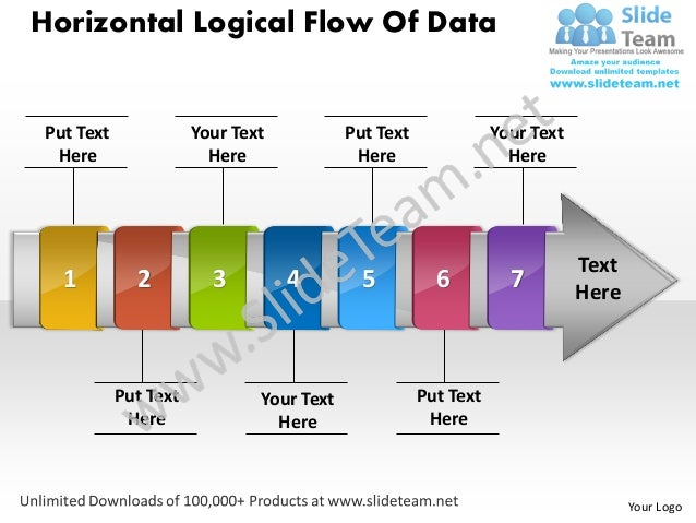 Horizontal Logical Flow Of DataPut Text              Your Text           Put Text              Your Text Here             ...