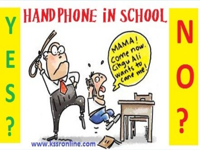 bringing handphone to school The data show that 13% of teens who bring their cell phones to school make a cell call during class less often than once a week and just 4% make such calls several times a week another 4% say they make calls at least once a day and yet another 4% say they make calls several times a day during class.