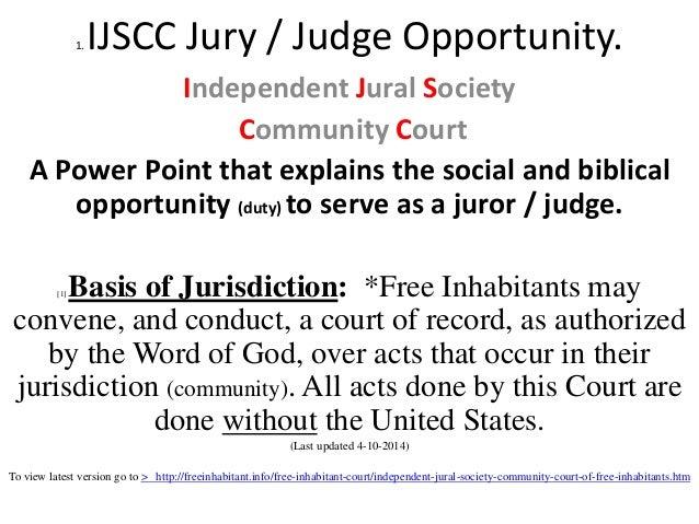 Ppt, ijscc intro, court, community, 1