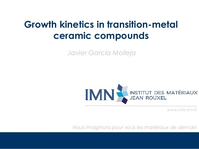 Growth kinetics in transition-metals ceramic compounds