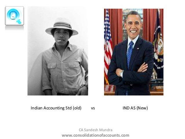Indian Accounting Std (old)  vs  IND AS (New)  CA Sandesh Mundra  www.consolidationofaccounts.com