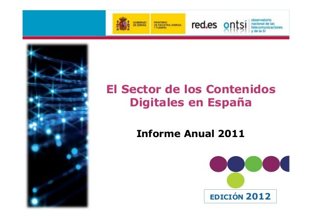 PPT Informe anual contenidos digitales (ed.2012)