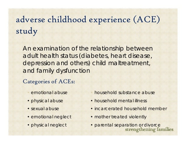 childhood maltreatment and diabetes relationship Background: the relationship of health risk behavior and disease in adulthood to the breadth of exposure to childhood emotional, physical, or sexual abuse, and household dysfunction during childhood has not previously been described.