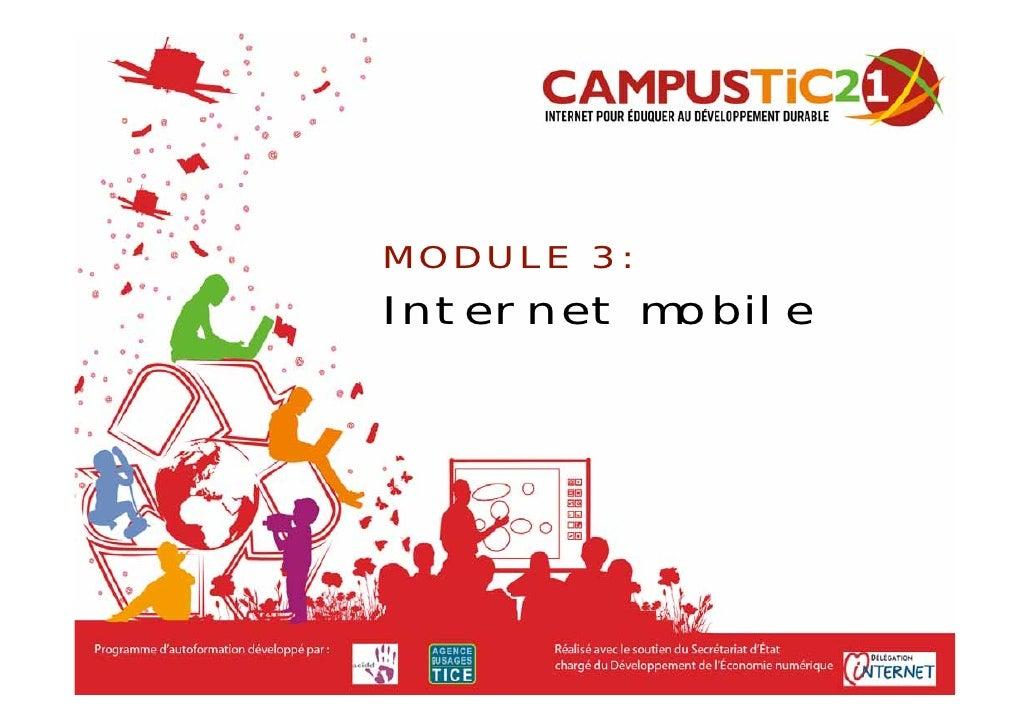 MODULE 3: Internet mobile