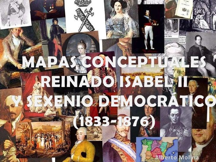 Ppt MAPAS CONCEPTUALES ISABEL II Y SEXENIO DEMOCRÁTICO