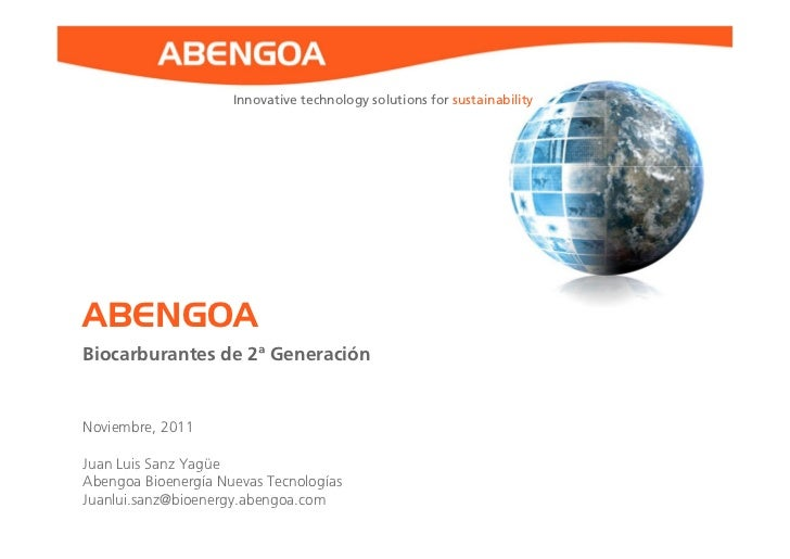 Juan Luis Sanz Yagüe - Biocarburantes de 2ª Generación